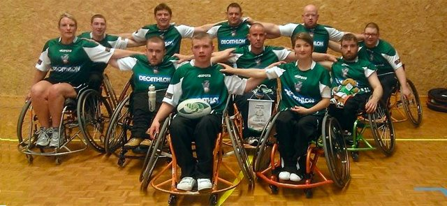 Ireland Triple Crown Winning Wheelchair Rugby Squad. Picture IWA.