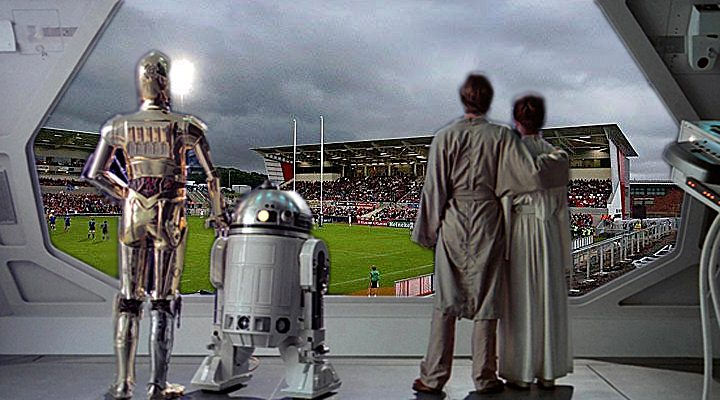 """A sneak preview of the view from the hospitality suite in the """"New Old Stand""""!"""