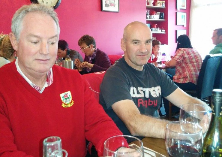Pre-match warm up in the Belvedere Cafe,  Cregagh Road