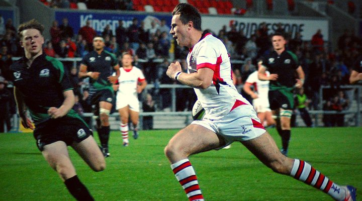 Adam Liddell bags two tries against Munster.