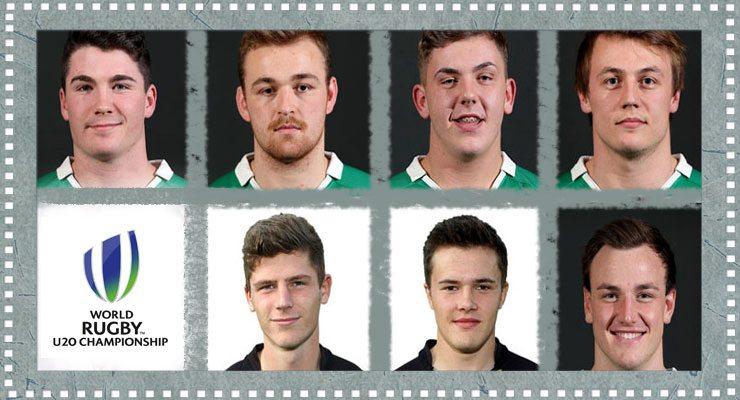 (Top) Sam Arnold, Lorcan Dow, Adam McBurney, Zack McCall. (Bottom) Jack Owen, Jacob Stockdale, Alex Thompson