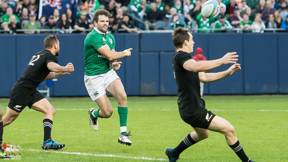 CALM! Payne keeps Ireland going forward throughout the game. Photo Brittany Biedenbender: The Front Row Union.