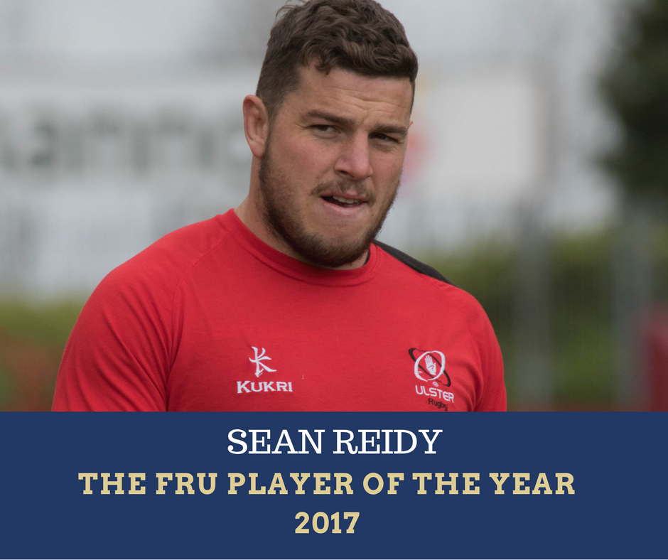 Sean Reidy, Ulster Rugby, The Front Row Union Player of the Year