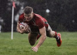 Ulster Club Rugby. Larne II's storm to the top of Provincial 5.
