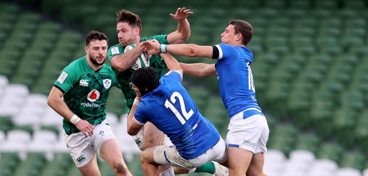 Six Nations: Ireland 50 Italy 17